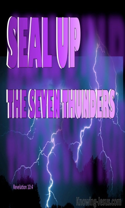 Revelation 10:4 Seal Up The Seven Thunders (purple)
