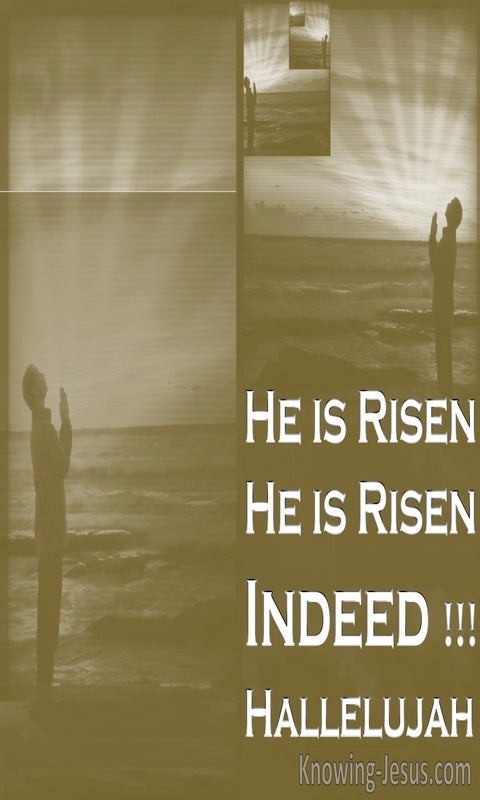 Mark 16:6 He Is Risen indeed (sage)