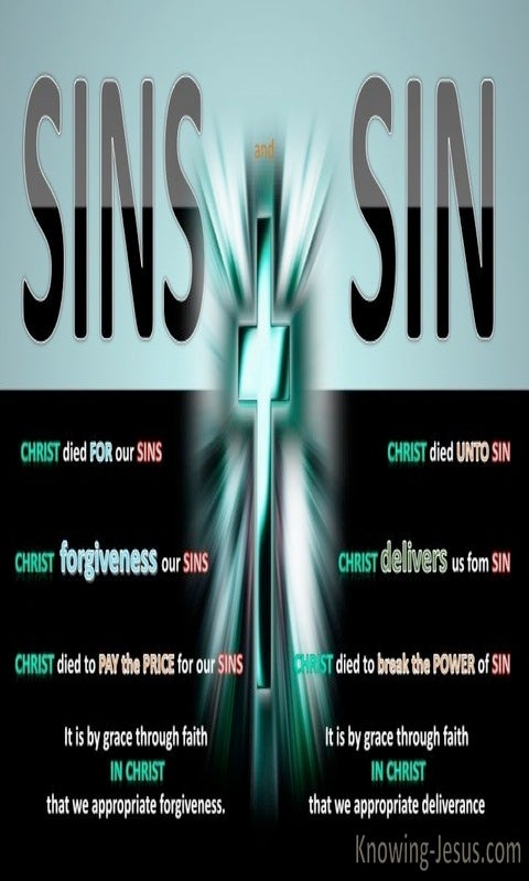 Romans 6:10 Sins and Sin (black)
