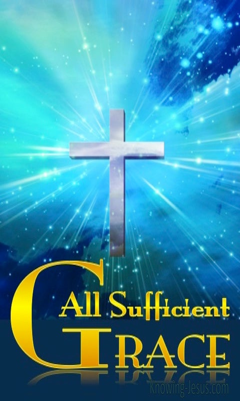 All Sufficient Grace (devotional) (blue)