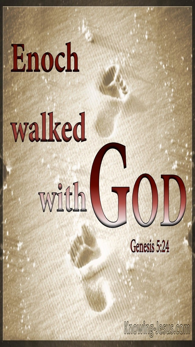 Genesis 5:24 Enoch Walked With God  (red)