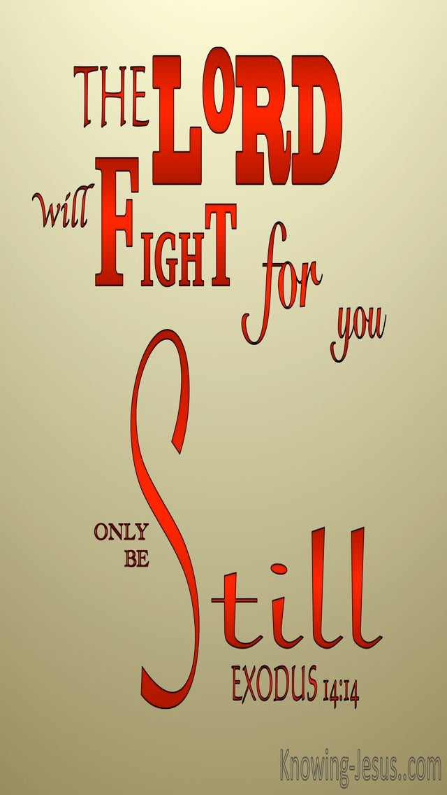 Exodus 14:14 The Lord Will Fight For You (red)