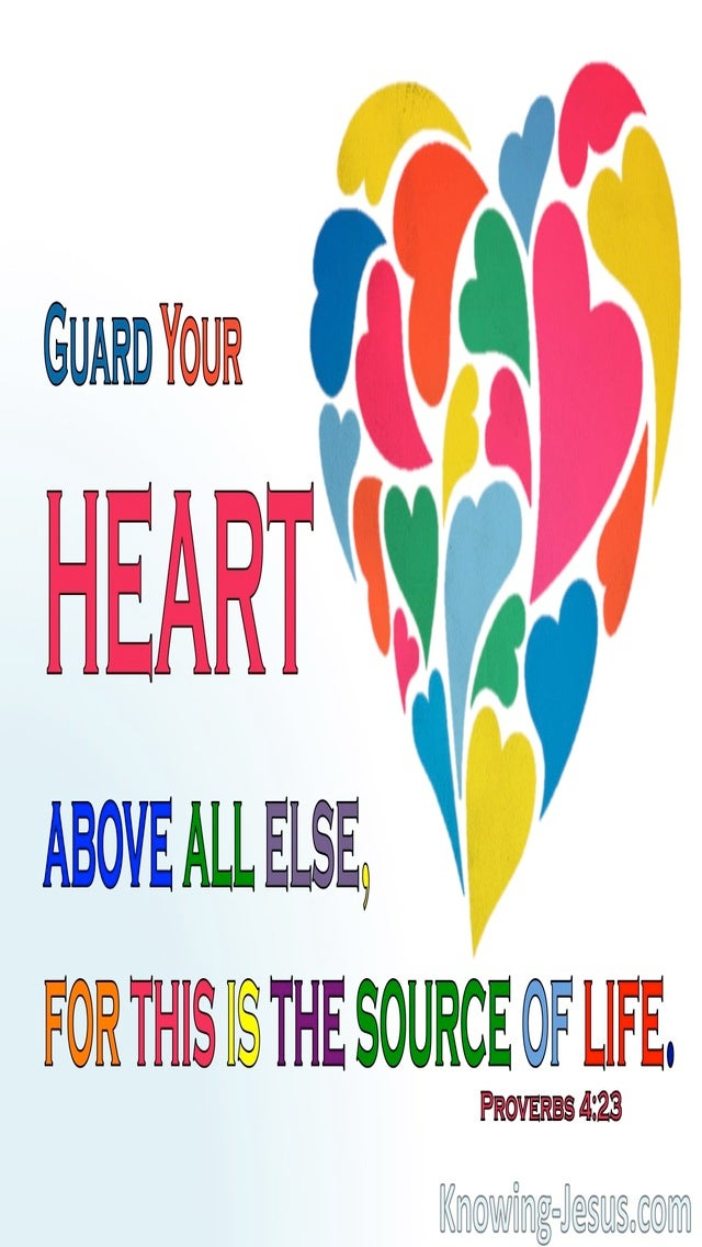 Proverbs 4:23 Guard Your Heart Above All Things (blue)