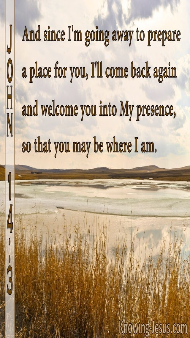 John 14:3 Where I Am Ye May Be Also (brown)