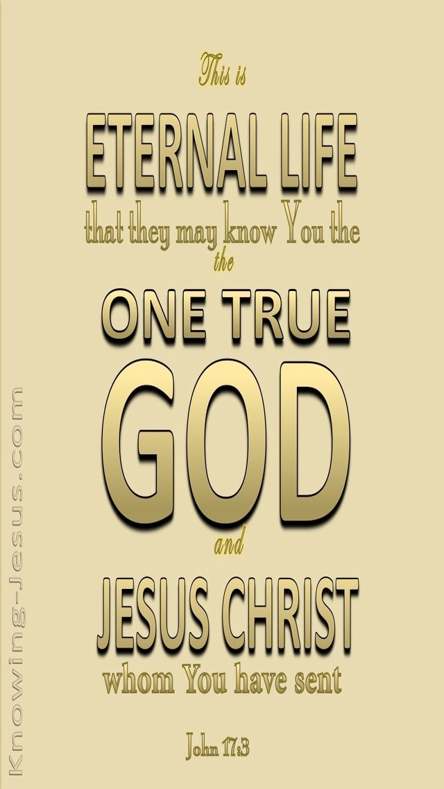 John 17:3 This Is Eternal Life (beige)