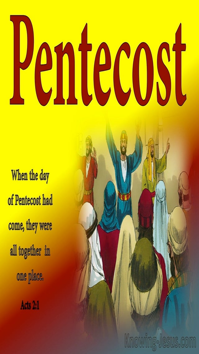 Acts 2:1 The Day Of Pentecost Had Fully Come (red)