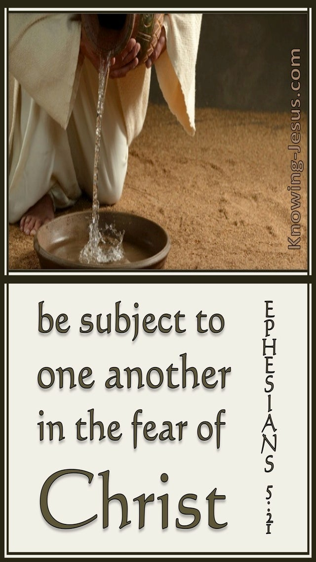 Ephesians 5:21 Be Subject To One Another (beige)