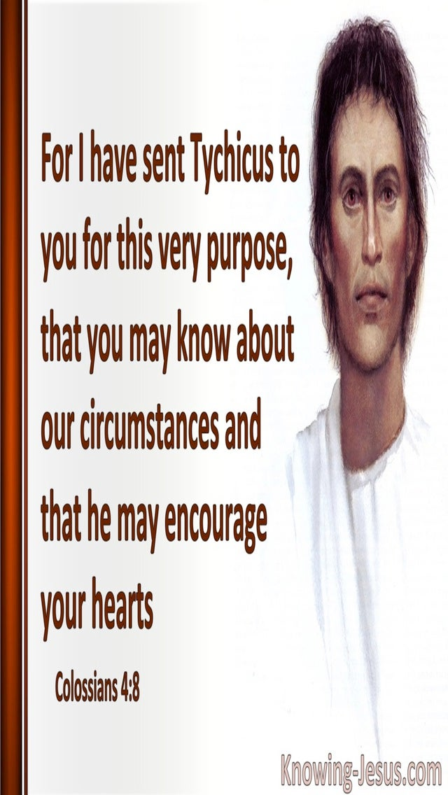 Colossians 4:8 May He Encourage Your Hearts (white)