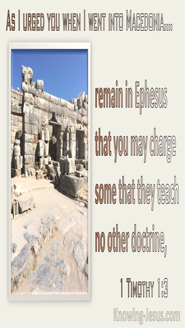1 Timothy 1:3 Remain In Ephesus (beige)