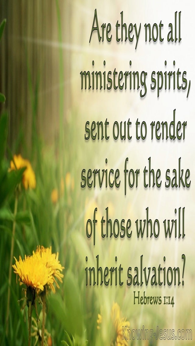 Hebrews 1:14 Are They Not All Ministering Spirits (green)