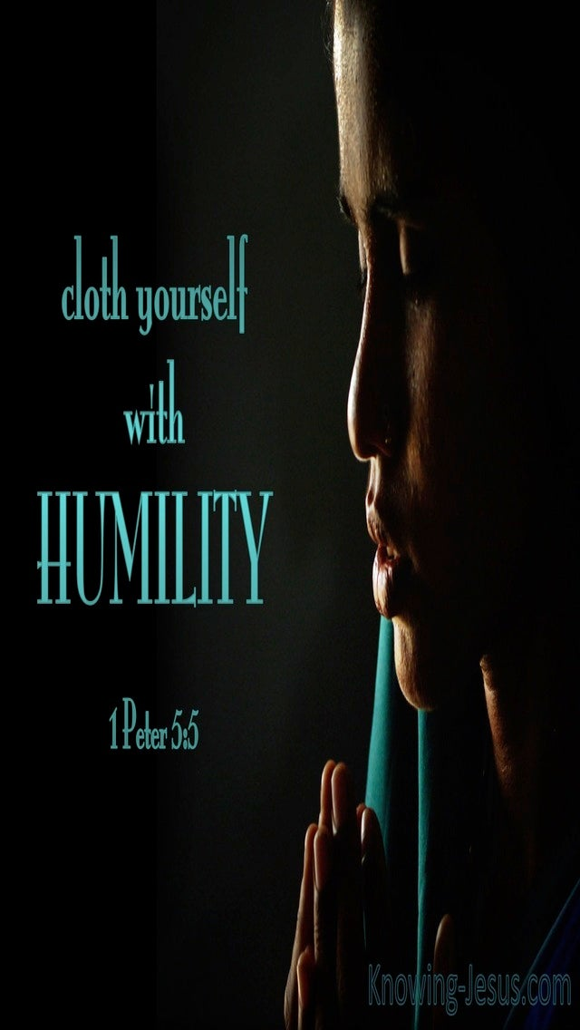 1 Peter 5:5 Cloth Yourself  With  Humility (aqua)