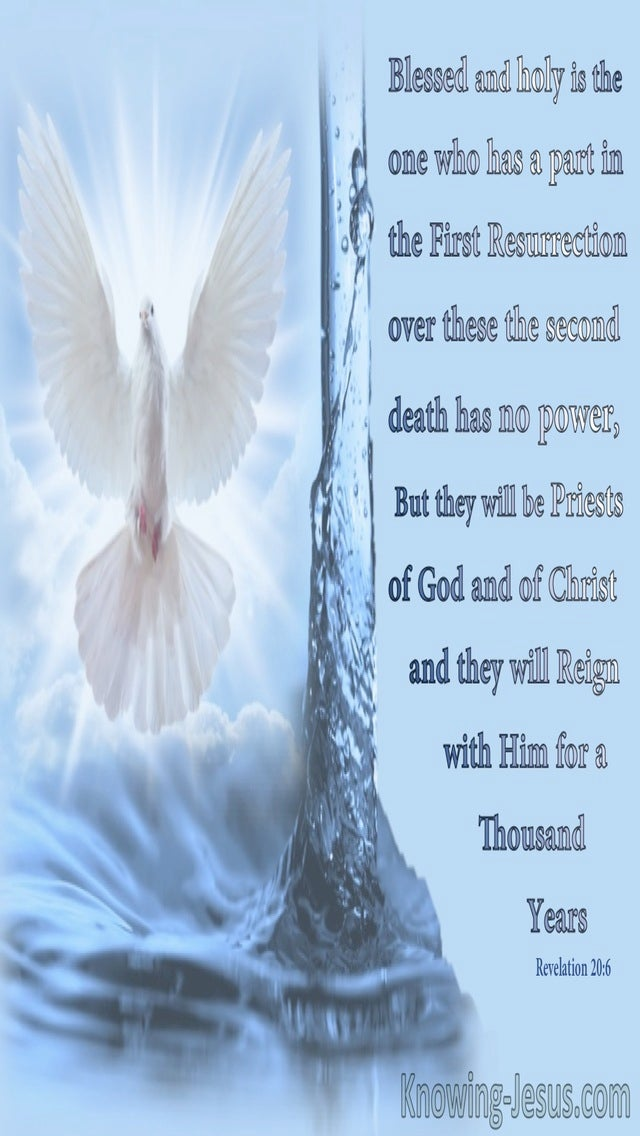 Revelation 20:6 The First Resurrection And TheSecond Death (blue)