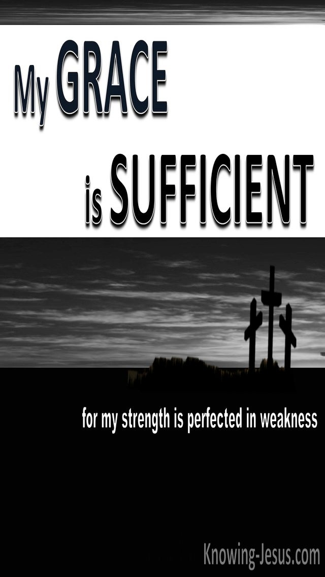 2 Corinthians 12:9 All Sufficiency of God (devotional)04-21 (white)