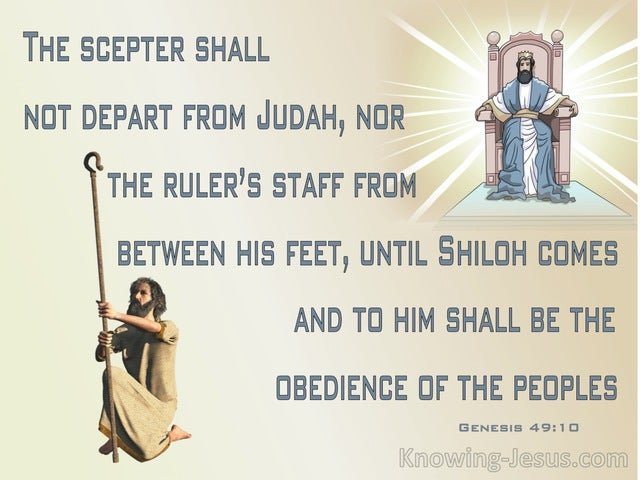 Genesis 49:10 The Scepter Shall Not Depart From Judah (gray)