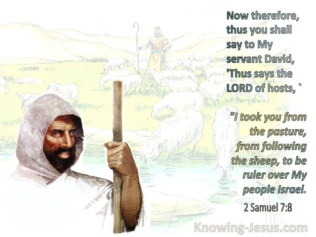2 Samuel 7:8 Thus You Shall Say To My Servant David (sage)