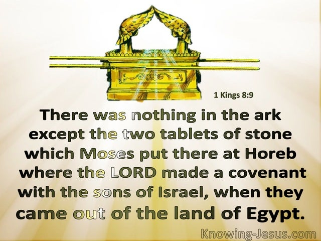 1 Kings 8:9 Nothing In The Ark But Two Tablets Of Stone (beige)