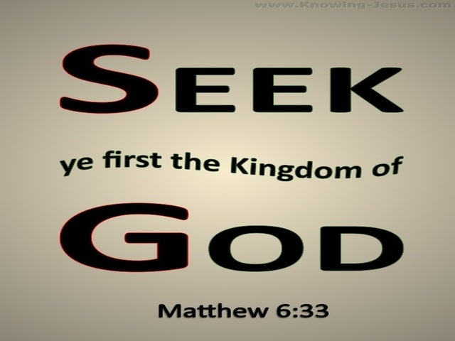 Matthew 6:33 Seek First The Kingdom Of God (beige)