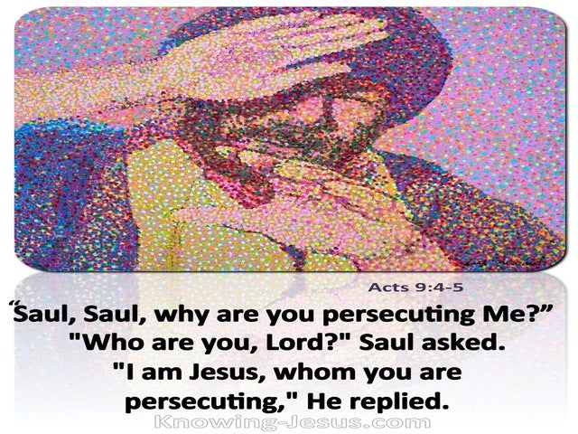 Acts 9:4 Saul Why Are You Persecuting Me (white)