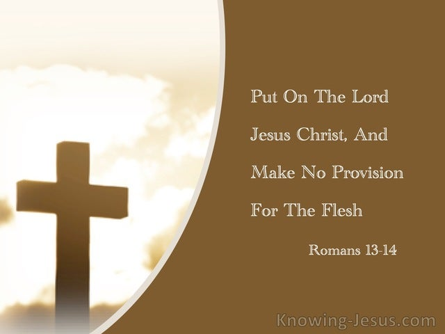 Romans 13:14 Put On The Lord Jesus Christ, And Make No Provision For The Flesh (brown)