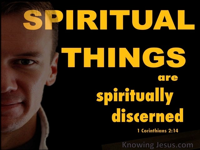 1 Corinthians 2:14 The Natural Man Does Not Discern (yellow)
