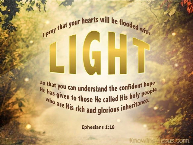 Ephesians 1:18 May Hearts Be Flooded With Light (gold)