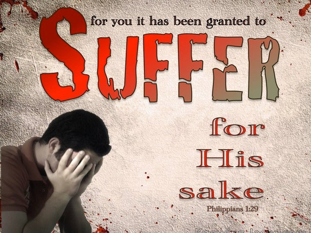 Philippians 1:29 For You It Is Granted To Suffer For Him (red)