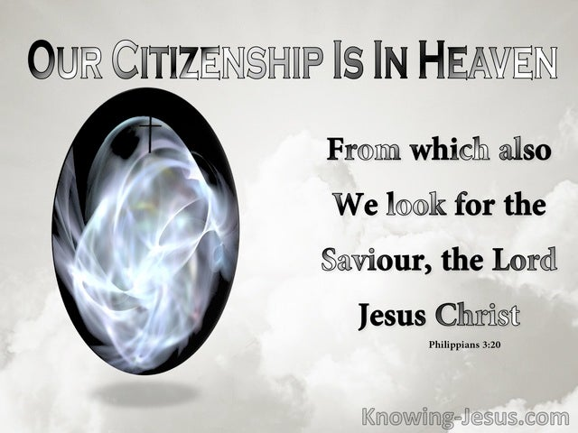 Philippians 3:20 Our Citizenship Is In Heaven (gray)