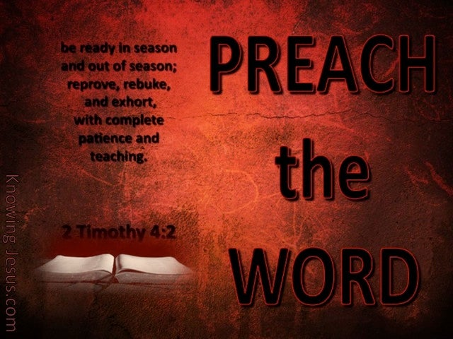 2 Timothy 4:2 Preach The Word (red)