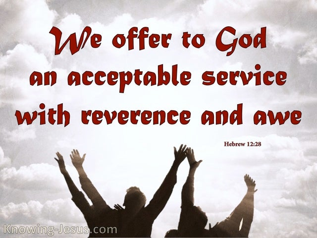 Hebrews 12:28 An Acceptable Service (red)