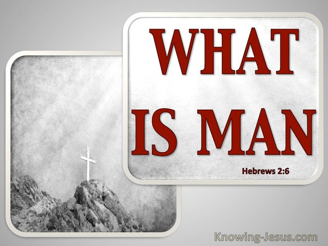 Hebrews 2:6 What Is Man (gray)