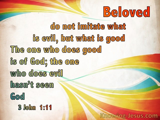 3 John  1-11 Imitate What Is Good Not Evil (red)
