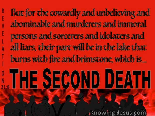 Revelation 21:8 The Lake Of Fire Is The Second Death (red)