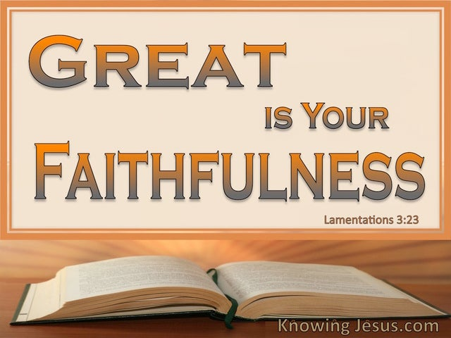 Lamentations 3:23 Lord Your Word Abides (devotional)04:20 (brown)