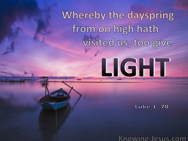 The Day-Spring Dawning (devotional) (purple) - Luke 1:78
