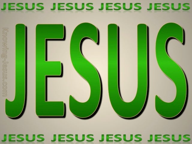 JESUS - His Name (green)