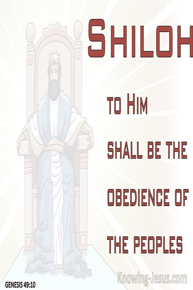 Genesis 49:10 The Scepter Shall Not Depart From Judah (red)