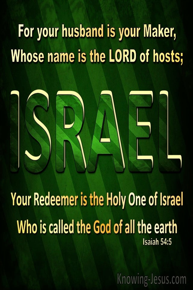 Isaiah 54:5 Your Husband Is Your Maker The Lord Of Hosts (green)