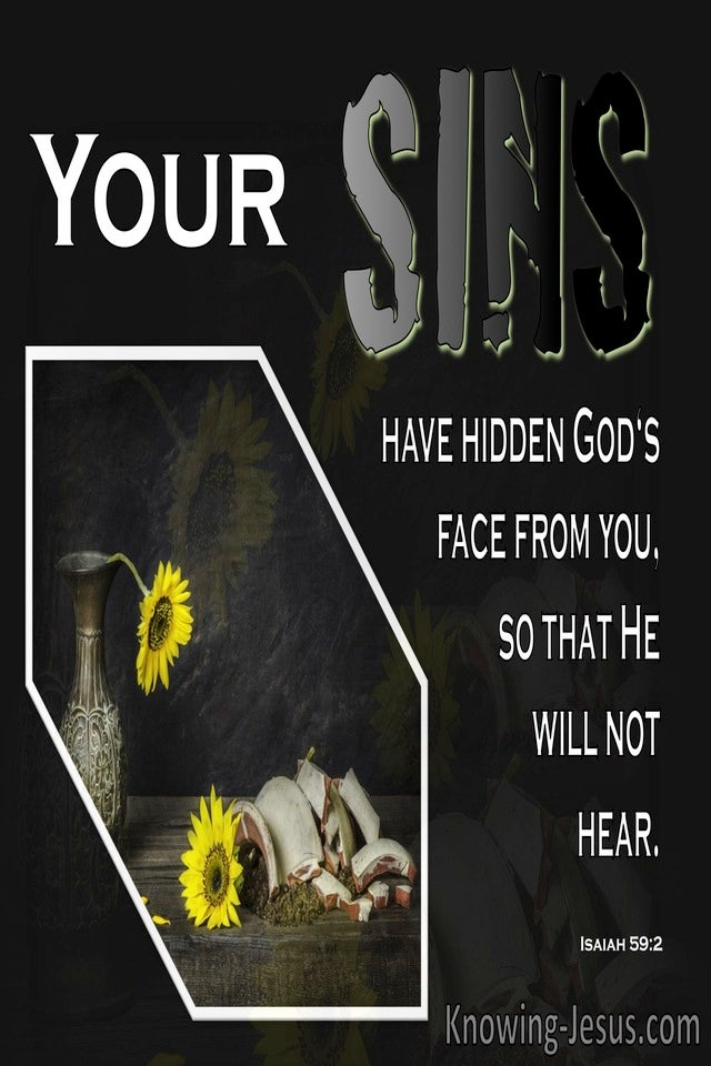 Isaiah 59:2 Your Sin Has Hidden God's Face From You (black)