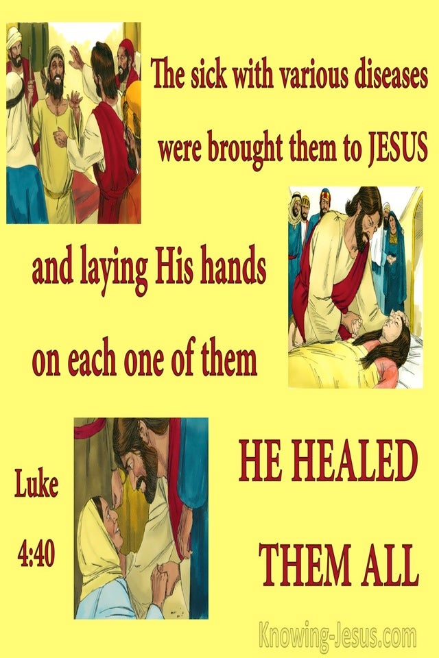 Luke 4:40 While The Sun Set He Healed Them (yellow)