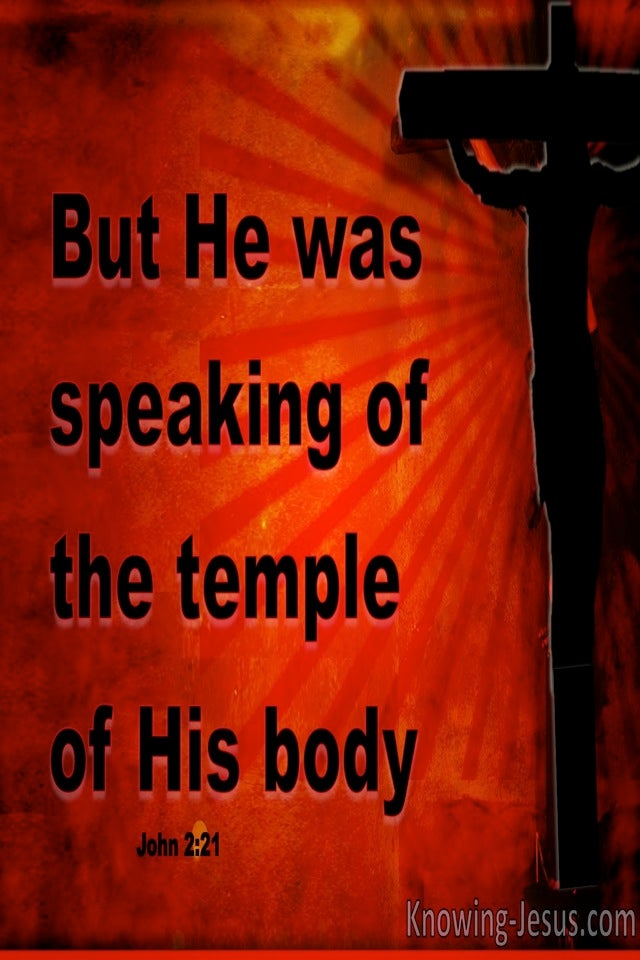 John 2:21The Temple Of His Body (red)