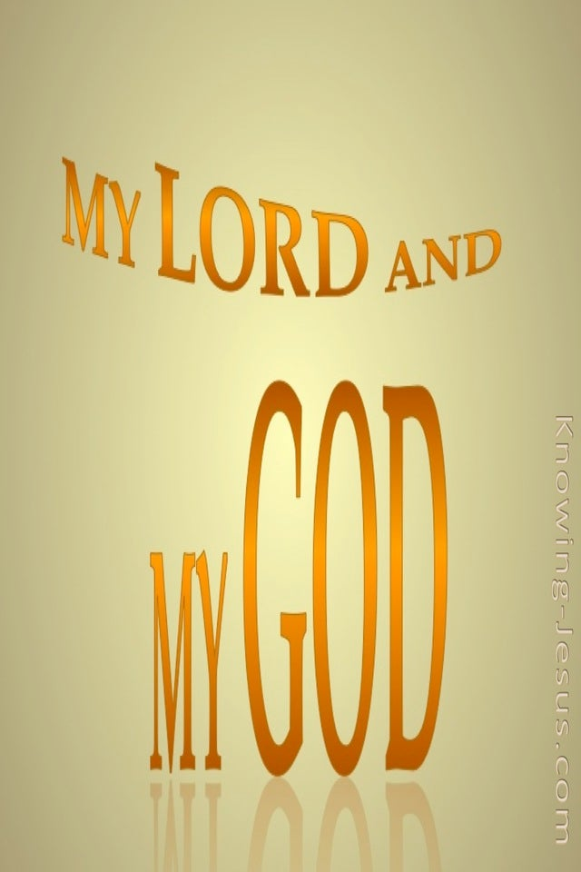 My Lord and My God (devotional) (orange)