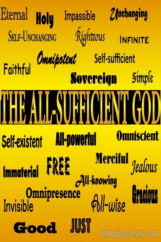 The All-Sufficient God (devotional)07-15 (yellow)