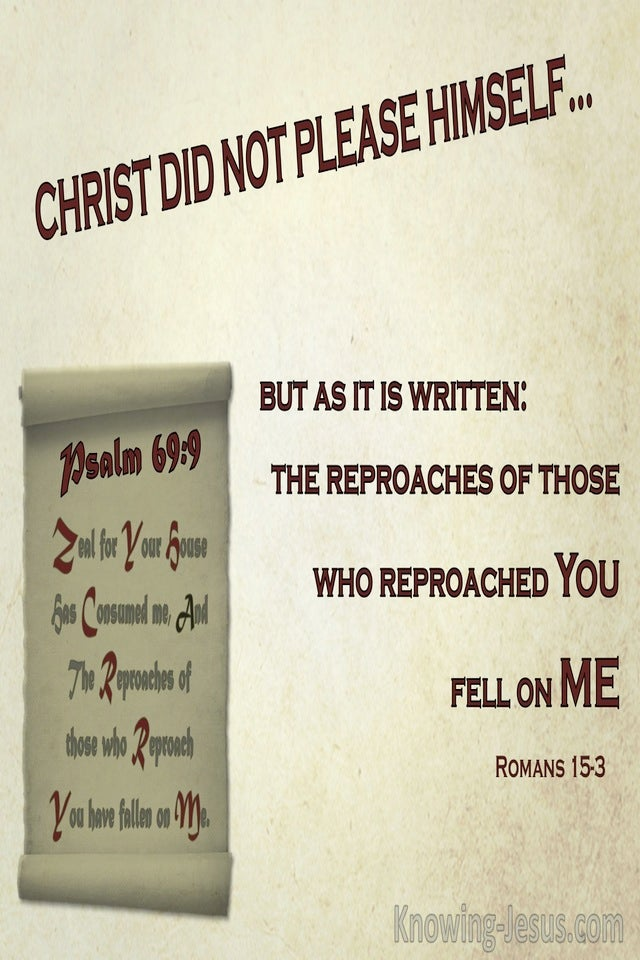 Romans 15:3 Psalm 69:9 Those Who Reproach You Reproached Me (sage)