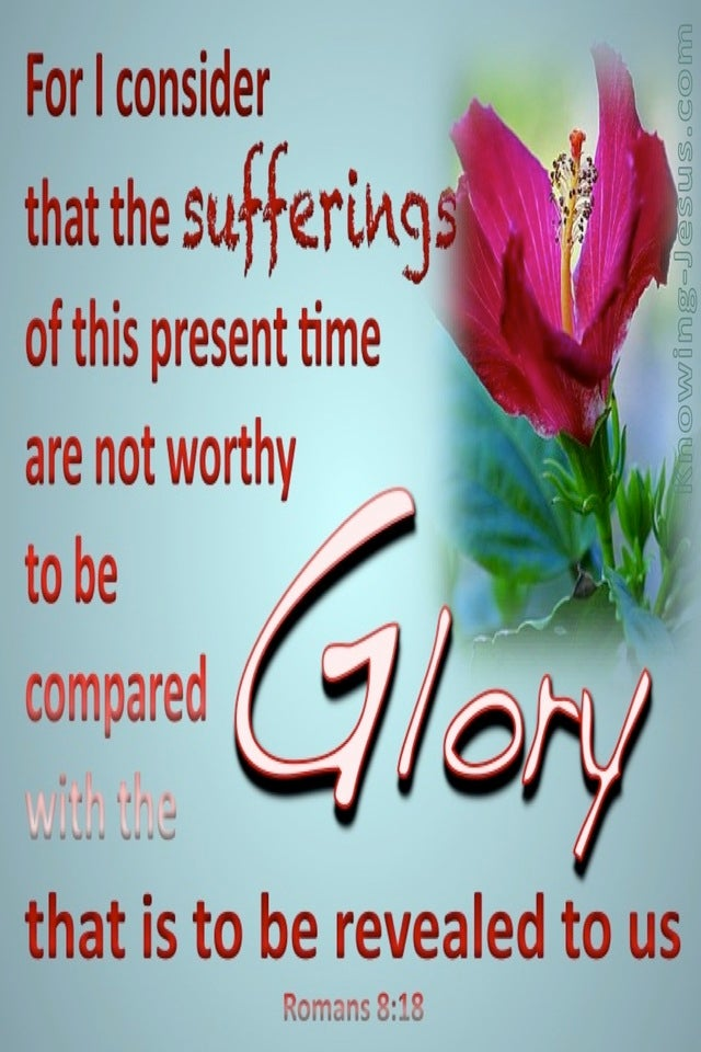 Romans 8:18 Suffering And Glory (aqua)
