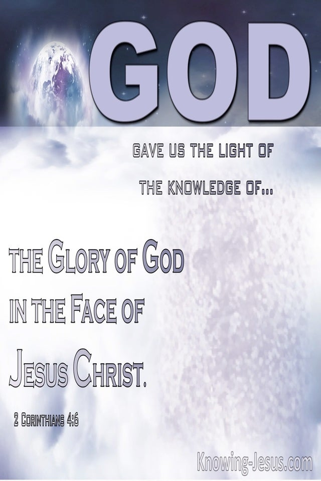 2 Corinthians 4:6 God Gave Us Light Of The Knowledge Of The Giory Of God In The Face Of Jesus Christ (purple)