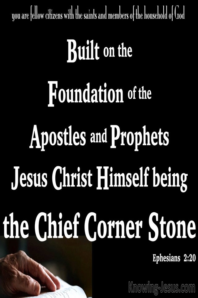 Ephesians 2:20 Jesus Christ The Chief Corner Stone (white)