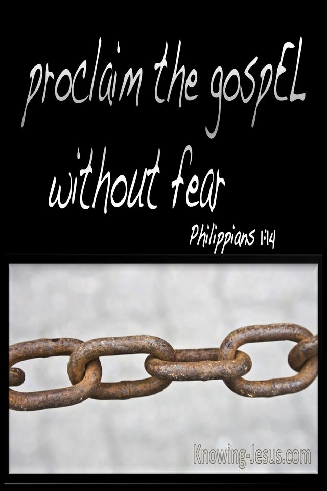 Philippians 1:14 Confidence In My Imprisonment (brown)