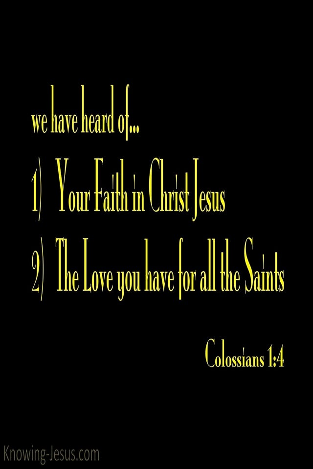 Colossians 1:4 Hope Reserved For You In Heaven (yellow)