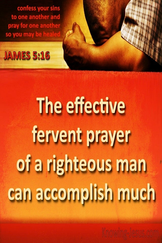 Pray Aright (devotional) (orange) - James 5:16