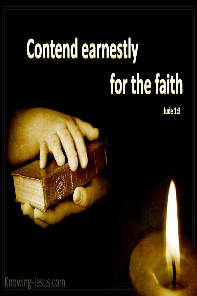 Jude 1:3 Contend Earnestly For the Faith (black)